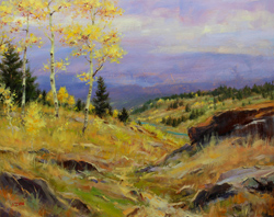 Bill_Inman_After_the_Storm_Breaks_24x30_Mountain_Aspens_Oil_Painting