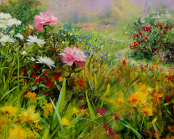 Bill_Inman_Aroma_Therapy_16x20_Daisies_Roses_Oil_Painting