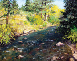 Bill_Inman_Finding_Gold_in_Estes_Park_Colorado_24x30_Oil_Painting
