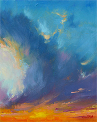 Bill_Inman_Fire_In_the_Sky_10x8_Oil_Painting