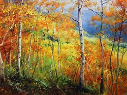 Bill_Inman_Prime_Real_Estate_18x24_Aspen_Trees_Oil_Painting
