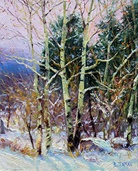 Bill_Inman_Six_Days_Before_Christmas_10x8_Colorado_Aspens_Oil_Painting