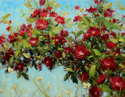 Bill_Inman_Celebration_11x14_Climbing_Rose_Oil_Painting