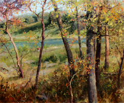 Bill_Inman_Chasing_Shadows_20x24_Trees_River_Autumn_Oil_Painting