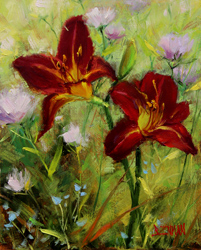 Bill_Inman_In_Good_Company_10x8_Lily_Oil_Painting
