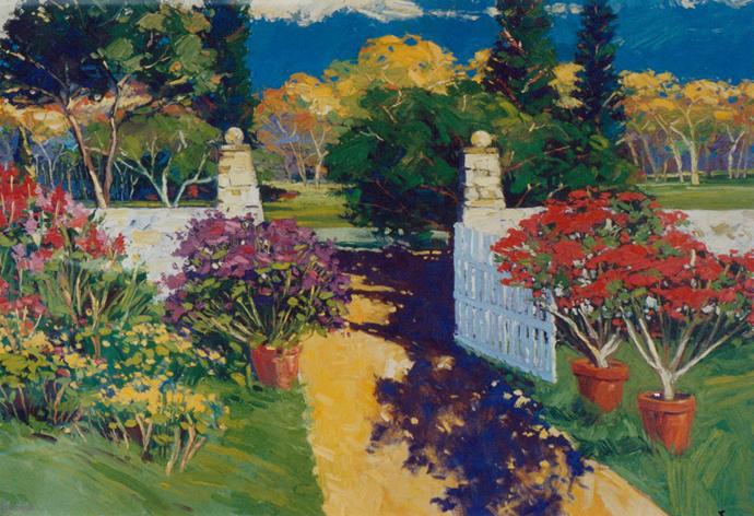 Colorful Garden Gate